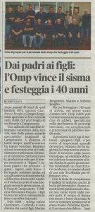 Gazzetta di Modena - Articolo Quarantesimo OMP
